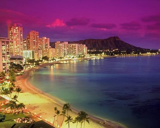 La plage de Waikiki à Honolulu
