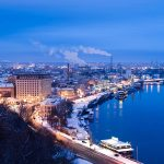 The Dnieper River Kiev Ukraine