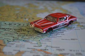 Road trip et une carte