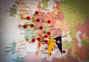 Carte de voyage pour voir les destinations