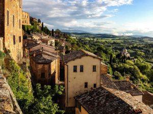 Paysage de la ville de Toscane en Italie