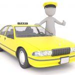 Un taxi avec son chauffeur