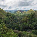 Les collines de chocolat sur l'île de Bohol aux Philippines
