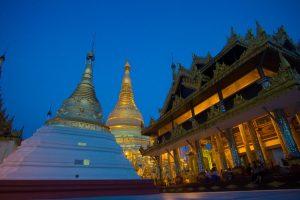La Pagode Shwedagon à Rangoon en Birmanie