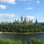 La colline du Parlement à Ottawa au Canada