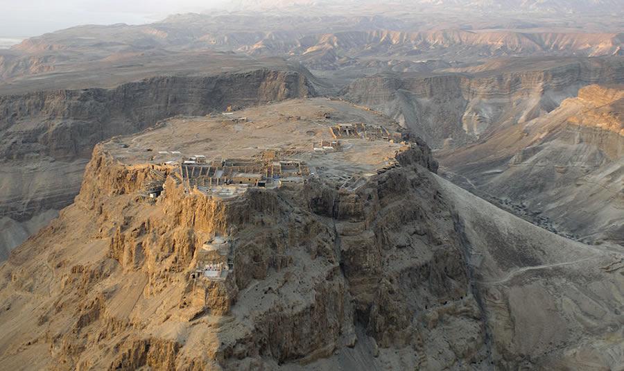 La forteresse de Massada en Israel