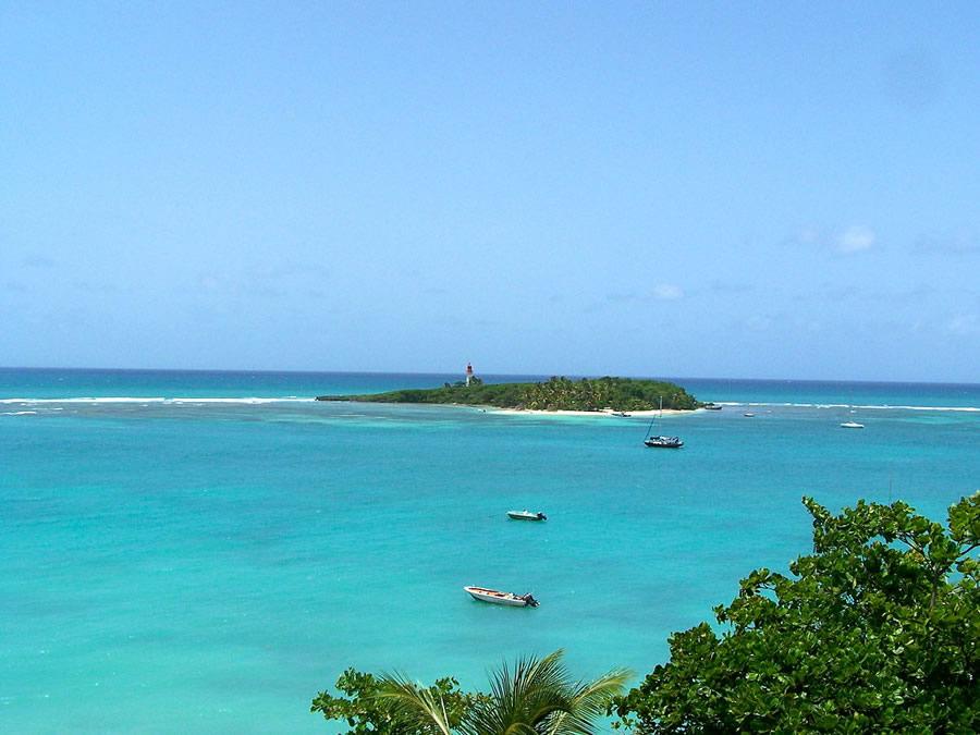 La station balnéaire du Gosier ou Îlet du Gosier en Guadeloupe