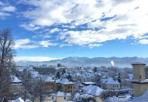 Cold Klagenfurt Wintry Homes Winter Snowy City