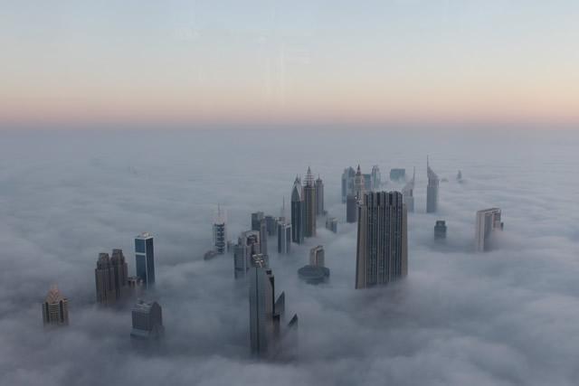 La ville de Dubai en hiver