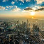 Vue panoramique à Dubai a voir lors d'un voyage