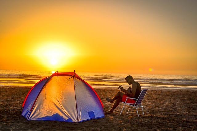 Camping en bord de mer