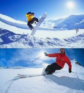 Faire du ski et du snowboard