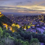 Vue de la ville de Grenade en Espagne