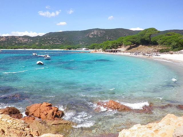 La plage de Palombaggia en Corse du Sud