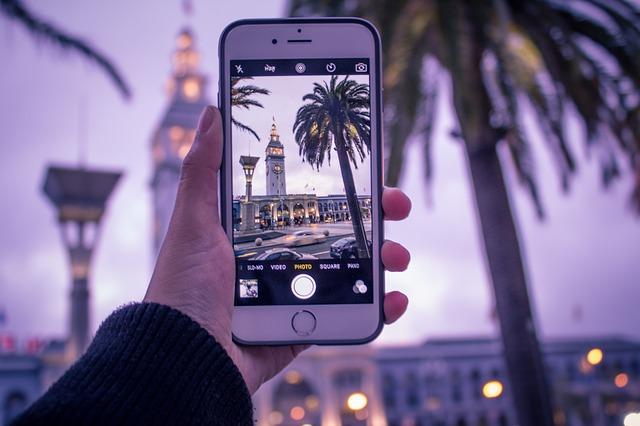 Photo de voyage prise avec un smartphone
