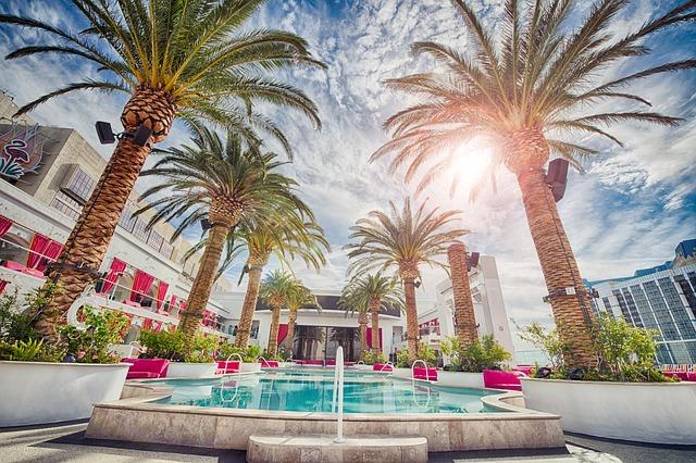 Piscine dans un hôtel à Las Vegas