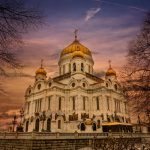 Cathédrale Orthodoxe à Moscou en Russie