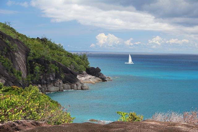 Paysage aux Seychelles
