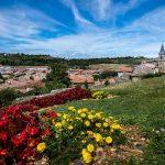 Paysage du village Lautrec Mesieval à Tarn en Occitanie
