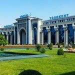 Gare de Tachkent à Ouzbékistan en Asie centrale