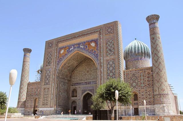 Ouzbékistan Mosquée de Samarkand Registan en Asie centrale