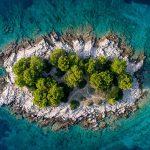 Une petite île en Croatie