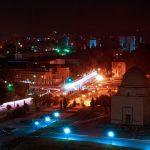 Vue de nuit de Ouzbékistan