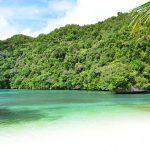 Plage de Palau en Micronésie