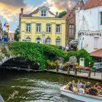 Le canal de Bruges en Belgique