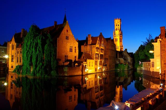 Le centre historique de Bruges au Belgique