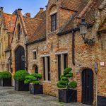 Quelques paquets de maison à Bruges en belgique