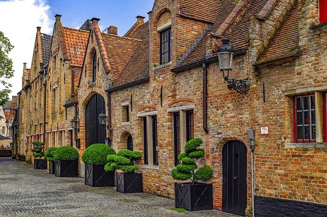 Quelques paquets de maison à Bruges au Belgique