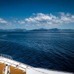 Vue magnifique sur un bateau de croisère