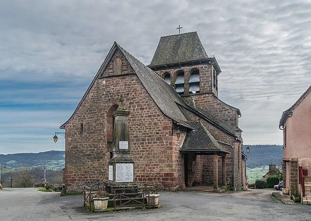 L'église de Saint Hilary de Pruines à Aveyron