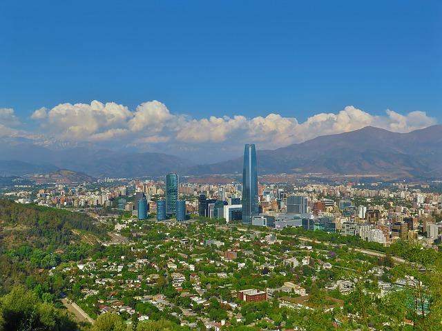 La ville de Santiago au Chili