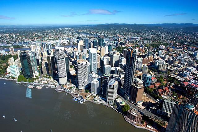 Le CBD ou Central Business District à Brisbane en Australie