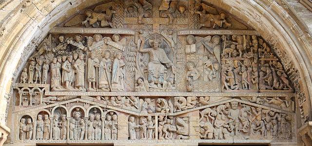 Le Tympan du Porche Abbaye Sainte Foy à Conques