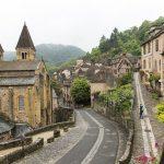 Les rues de Conques à Aveyron