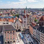 L'hotel de Ville de Marienplatz a Munich