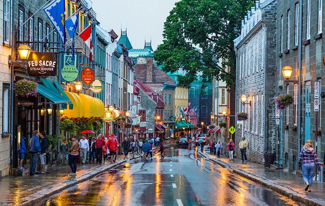 La rue de Saint Louis dans le Vieux Quebec