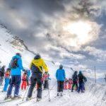 Ski a la montagne