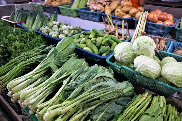Marché de legumes Chine